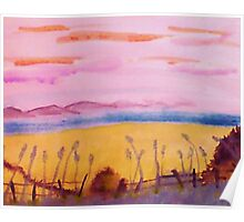 Peaceful place, watercolor Poster