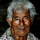 Elderly Man. Bhutan, Eastern Himalayas  by Carole-Anne