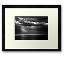 Watching the Storm Framed Print