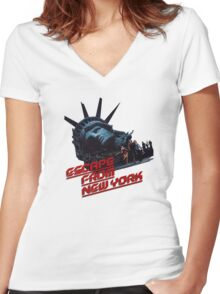 Escape From New York Women's Fitted V-Neck T-Shirt