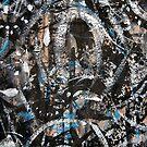 dead center.... ancient black mask closeup by banrai