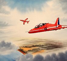 Bae Hawk T1a- The Red Arrows by bill holkham