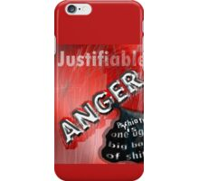 Justifiable anger at psychiatric abuse iPhone Case/Skin