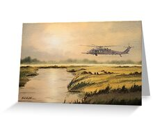 Pave Hawk Helicopter HH-60 On A Mission Greeting Card