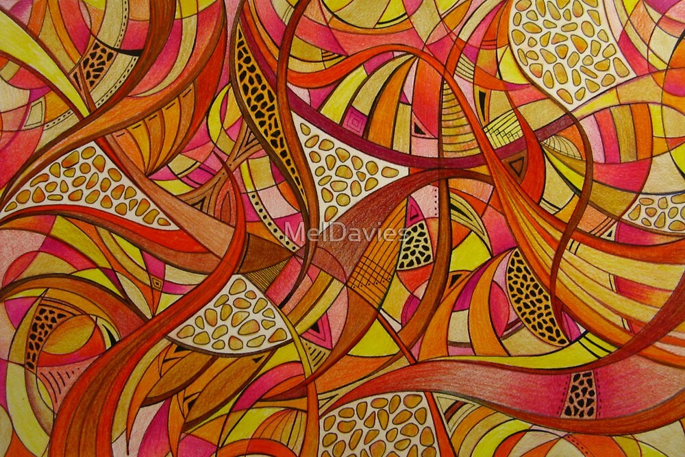Abstract Tangerine by MelDavies