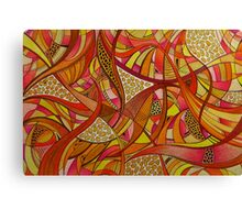 Abstract Tangerine Canvas Print