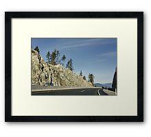 Vancouver to Whistler to Pemberton Framed Print