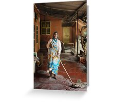 Indian Cleaner Greeting Card