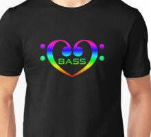 Colorful Bass In Heart Unisex T-Shirt