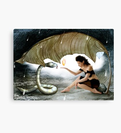 The Elf and the Snake Canvas Print