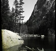 Mirror Lake 4 - Yosemite National Park - Vintage by Matthew Floyd
