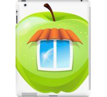An apple with a window iPad Case/Skin