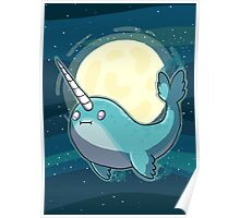 Space Narwhal Poster