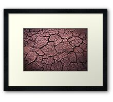 Dried riverbed dreaming of water Framed Print