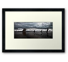 Brewing storm over the ocean Framed Print