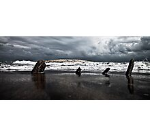 Brewing storm over the ocean Photographic Print