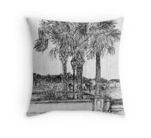 Light Rain Throw Pillow