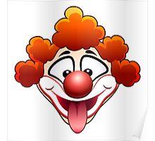 joking circus clown head Poster
