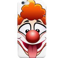 joking circus clown head iPhone Case/Skin