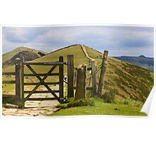 Win Hill and Losehill on the Great Ridge. Poster