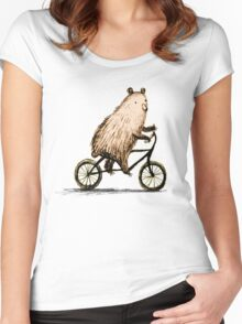 Cycling Bear Women's Fitted Scoop T-Shirt