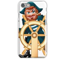Pirat with a steering wheel iPhone Case/Skin