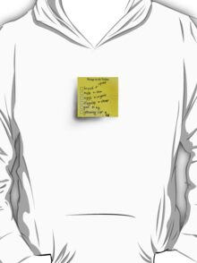 Post-it Note Tee T-Shirt