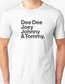 DEE DEE, JOEY, JOHNNY & TOMMY. T-Shirt