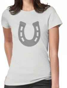 Horse Shoe Womens Fitted T-Shirt