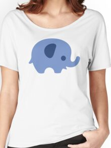 Baby Elephant - blue Women's Relaxed Fit T-Shirt