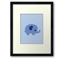 Baby Elephant - blue Framed Print