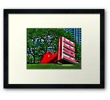 Free Stamp Framed Print