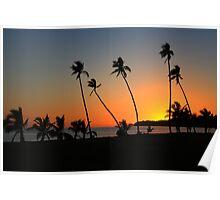 Fiji Sunset - Plantation Island Poster