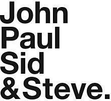 JOHN, PAUL, SID & STEVE. Photographic Print