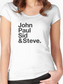 JOHN, PAUL, SID & STEVE. Women's Fitted Scoop T-Shirt