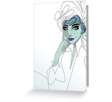 Abstract Girl. Greeting Card