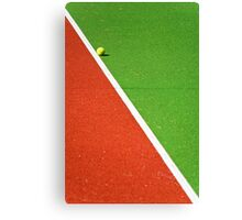 Red :: Green :: White Line and Tennis Ball Canvas Print