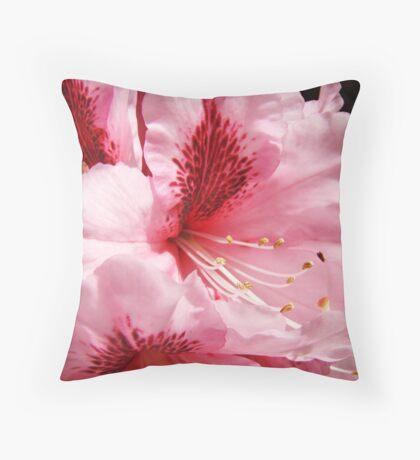 Pink Rhododendron Flower art prints Floral Garden Throw Pillow