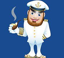 man in captain uniform with smoking tube by devaleta
