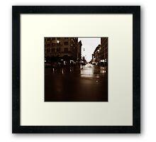 Adelaide streetscape Framed Print