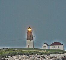 Port Judith Lighthouse by Nancy Rohrig