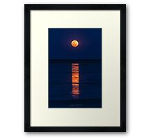 Staircase to the Supermoon Framed Print