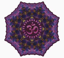 Pink Purple Aum Om Geometry One Piece - Long Sleeve