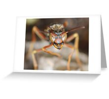 angry stinger Greeting Card