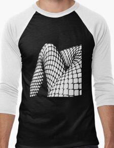Fishnet legs (white print) Men's Baseball ¾ T-Shirt