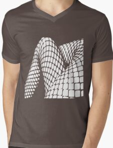 Fishnet legs (white print) Mens V-Neck T-Shirt