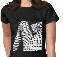Fishnet legs (white print) Womens Fitted T-Shirt