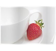 Teatime Strawberry Poster