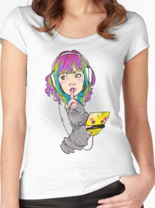 Shhh. Gaming. Women's Fitted Scoop T-Shirt