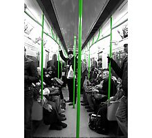 London: District Line, Green Photographic Print